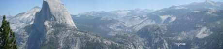 Yosemite National Park. Glacier Point. Vista general panoramica
